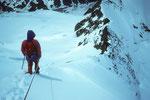 Abstieg auf dem Westgrat zur Rifugio Aosta.