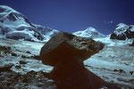 Gletschertisch vor Liskamm mit Castor & Pollux