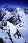 Eiger 3970m und Mönch 4107 m