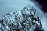 Gipfel Nuptse 7879 m vom Kala Patthar 5545 m  - Tele -