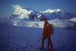 Im Hintergrund Monte Rosa 4634 m und Liskamm 4527 m