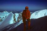 Gipfel Pointe  Walker 4208m