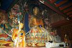 Buddha auf Lotus im Kloster Tengboche