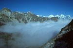 Everest Region in der Ferne