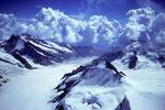Blick nach Südosten mit Aletschgletscher