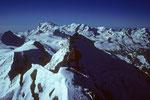 Die hohen Walliser mit Täschhorn 4491 m im Zentrum