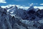 """P. 5880 m und Ama Dablam 6856 m, das """"Mattterhorn"""" von Nepal - Tele -"""