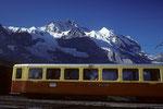 Kl. Scheidegg 2061 m mit Blick auf Jungfrau 4158 m mit Silberhörner