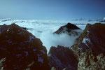 Annapurnas mit Manaslu 8163 m in der Ferne