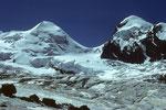 Grenzgletscher mit Castor 4226 m & Pollux 4091 m