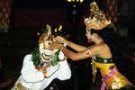 Der Affengeneral Hanuman wird belohnt für seine Hilfe