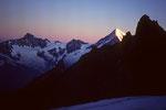 Weisshorn 4505 m im ersten Morgenlicht