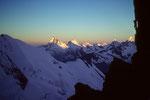 Walliser 4000er mit Matterhorn 4478 m im Morgenlicht vom Festijoch