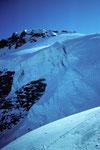 Gran Paradiso 4061m von Westen mit Gletscherabbruch