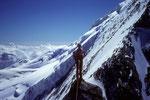 Standplatz vor dem Alphubel - Nordgrat