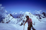auf dem Gipfel der  Wengen-Jungfrau 4089 m mit Eiger und Mönch