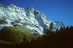 Dent d´Herens 4171 m von Breuil 2003 m.