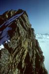 Beim Abstieg auf dem Grat I