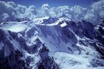 Blick nach Süden bis zum Bietschhorn 3934 m