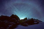 Schwarzhorn (Corno Nera) 4322m mit Halo