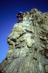 Genusskletterei beim Abstieg vom Schreckhorn 4078 m