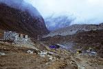 Teehäuser von Lobuche 4930 m