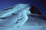Bossesgrat und Mont Blanc - Gipfel von der Vallothütte