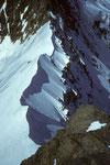 Grat gesehen vom Breithorn Ostgipfel 4141m