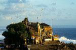 Pura Tanah Lot - traumhaft im Meer gelegener Tempel gegen das Böse aus dem Meer I