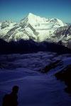 Weisshorn 4505 m mit Bishorn 4153 m