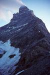 Matterhorn  beim Aufstieg im Morgenlicht