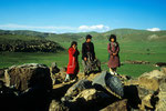 Nomaden-Kinder mit Ararat in der Ferne