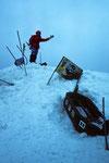 Berg Heil am Gipfel mit Hinweis auf die Arche Noah