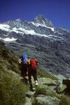 Aufstieg zur Schreckhornhütte 2530 m