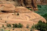 Natur-Muster im De-Chelly-Sandstein