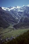 Saas Fee 1798 m mit Allalinhorn 4027 m