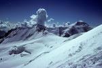Dreieckhorn 3810 m und Aletschhorn 4195 m