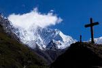 SO-Grat desTäschhorns 4491 m von der Täschalp 2214 m