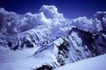 Aletschhorn 4195 m mit Gletscherhorn 3983 m vom Rottalhorn 3969 m