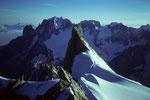 Mont  Mallet 3989m und Aiguille Verte 4122m vom Dome de Rochefort 4015m