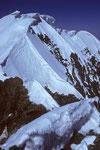 Breithorn Mittelgipfel 4160m und Breithorn West 4165m -Tele -