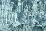 Gletscher-Eiswand