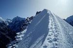 Gipfelgrat auf 5500 m zum Yala Peak