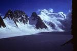 La Barre Noir 3751 m, Barre des Écrins 4102 m, Pic Lory 4086 m und Dome de Neige 4015 m