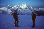 Breithorn 4165 m davor Michael und Walti  in memoriam