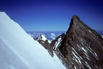 Lenzwand im Gipfelbereich mit NW-Grat zum Nadelhorn 4327 m