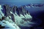 Aiguilles von Chamonix mit Mer de Glace