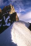 Zinalrothorn 4221 m vom Firngrat - Tele.