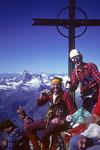 Bruno und Konrad! Auf  das Gipfelglück muss angestossen werden. Prost!