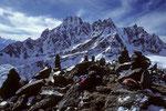 Gipfelrast vor P 6073 m und P 5977 m